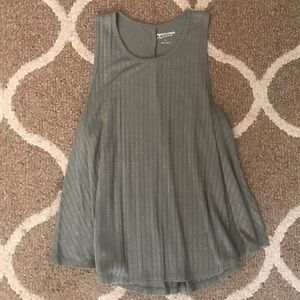Flowy Ribbed Olive Green Tank